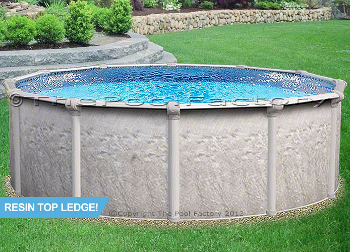 21 X52 Quot Round Heritage Rtl Resin Top Ledges Swimming