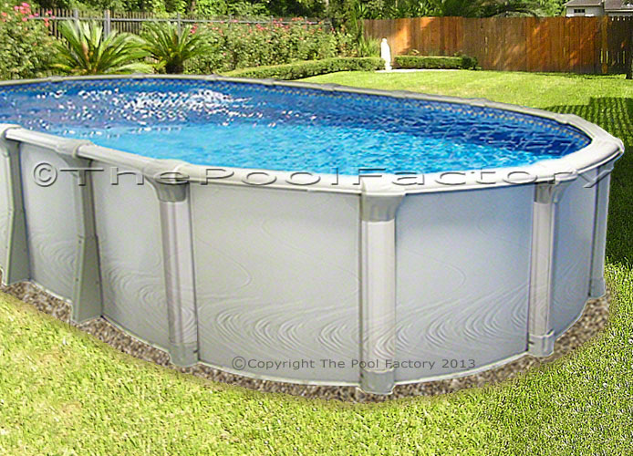 18x33x54 oval premium above ground swimming pool deluxe for Above ground pool packages cheap