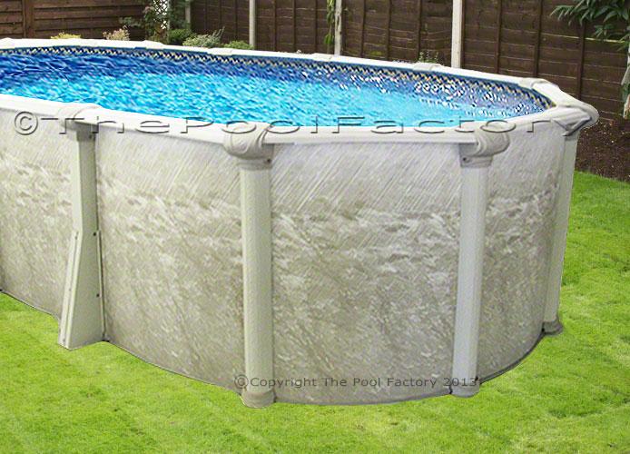 12x20 Oval Above Ground Swimming Pool Kit 52 High Sleek Oval Design Ebay