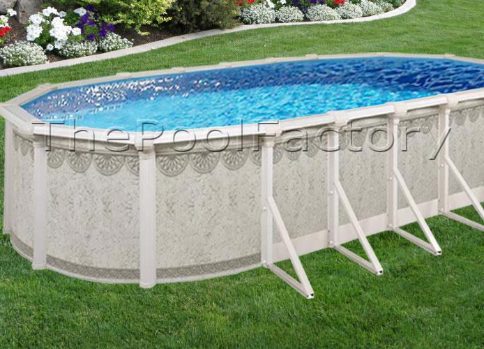 12x24x52 9 Huge Resin Ledge Hampton Oval Above Ground Swimming Pool Package Ebay