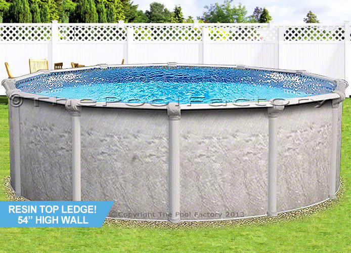 24x54 Round 7 Resin Top Above Ground Swimming Pool Deluxe Accessory Package Ebay