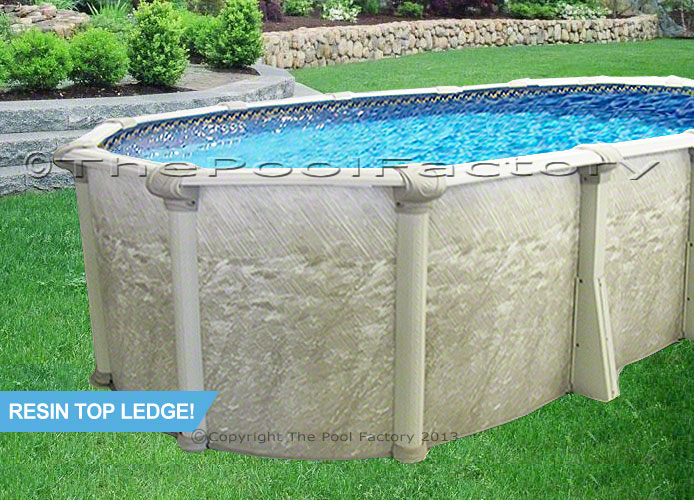 18x33x52 oval above ground swimming pool deluxe accessory package resin top for Resin above ground swimming pools