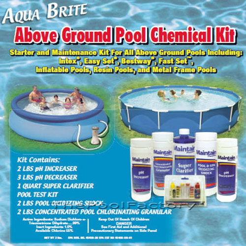 Intex chemical kit for intex bestway swimming pools ebay for Chemicals needed to close swimming pool