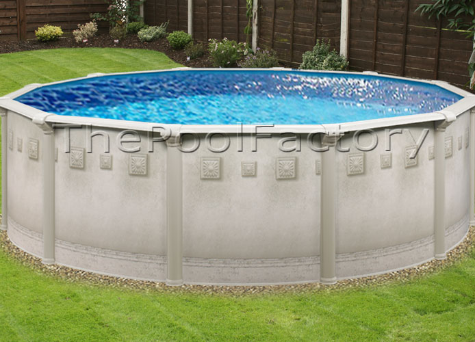 30x52 round above ground swimming pool package 7 wide top ledge sale ebay