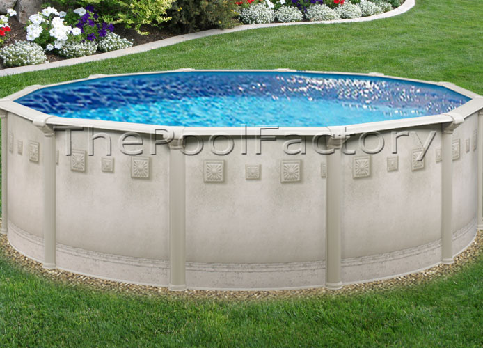 18x52 round above ground swimming pool package ebay for Above ground pool packages cheap