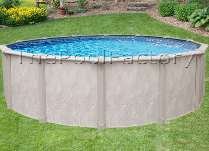 24x52 round above ground swimming pool package 7 wide top sale ebay
