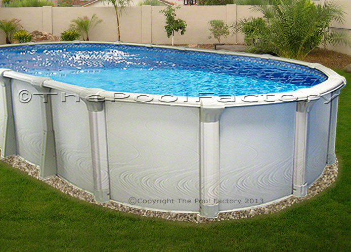15x30 Oval Premium Above Ground Swimming Pool Kit 54 High