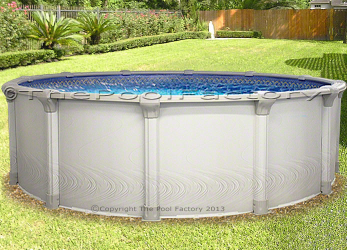 24x54 round premium above ground swimming pool deluxe for Above ground pool packages cheap