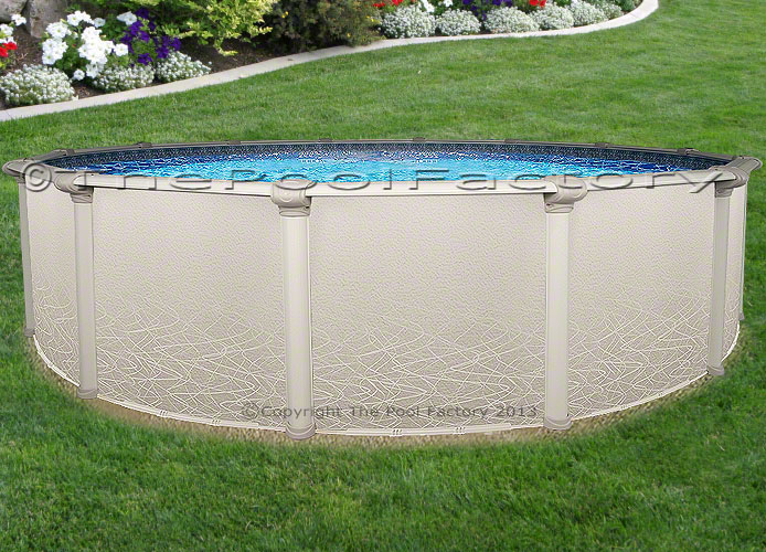 21 Round 52 High Saltwater 5000 Above Ground Salt Swimming Pool Package