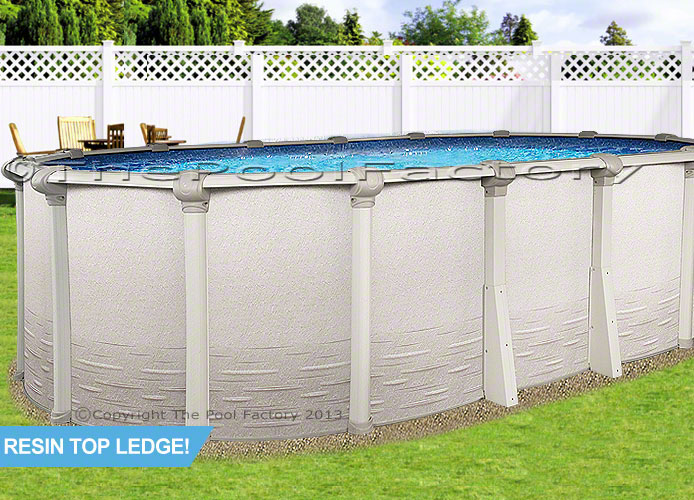 15x24 Oval Signature Above Ground Swimming Pool Kit 52