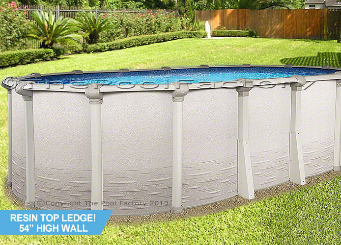 18x40 oval 54 high signature above ground swimming pool for Cheap above ground pool packages