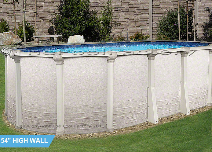 18x40x54 signature rtl above ground swimming pool deluxe for Above ground pool packages cheap